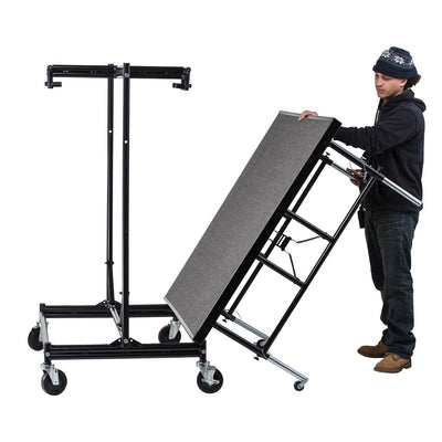 NPS® Height Adjustable 4' x 4' TransFix Stage Platforms-Stages & Risers-