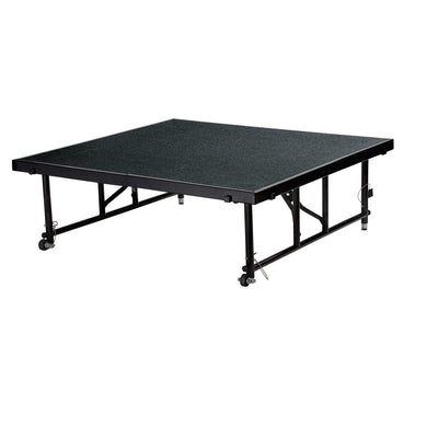 "NPS® Height Adjustable 4' x 4' TransFix Stage Platforms-Stages & Risers-16"" - 24""-Black Carpet-"