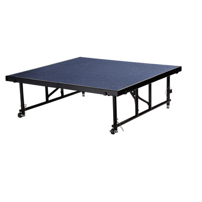 "NPS® Height Adjustable 4' x 4' TransFix Stage Platforms-Stages & Risers-16"" - 24""-Blue Carpet-"