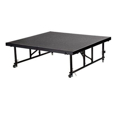 "NPS® Height Adjustable 4' x 4' TransFix Stage Platforms-Stages & Risers-16"" - 24""-Grey Carpet-"