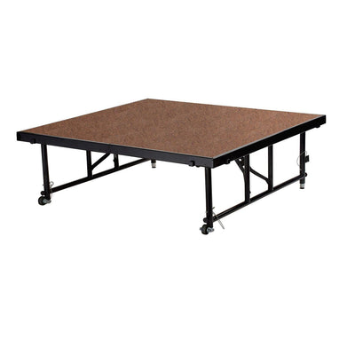 "NPS® Height Adjustable 4' x 4' TransFix Stage Platforms-Stages & Risers-16"" - 24""-Hardboard-"