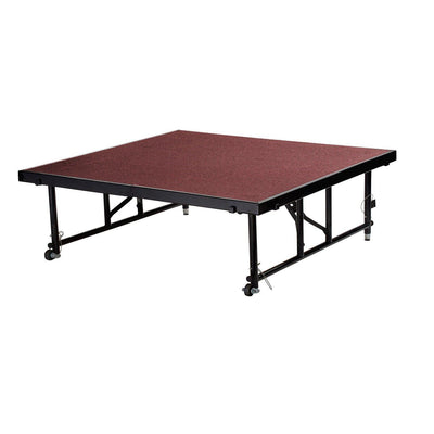 "NPS® Height Adjustable 4' x 4' TransFix Stage Platforms-Stages & Risers-16"" - 24""-Red Carpet-"