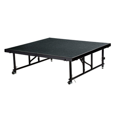 "NPS® Height Adjustable 4' x 4' TransFix Stage Platforms-Stages & Risers-24"" - 32""-Black Carpet-"