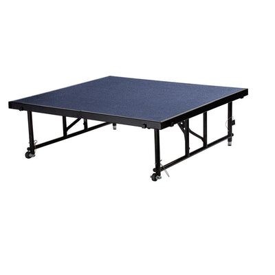 "NPS® Height Adjustable 4' x 4' TransFix Stage Platforms-Stages & Risers-24"" - 32""-Blue Carpet-"