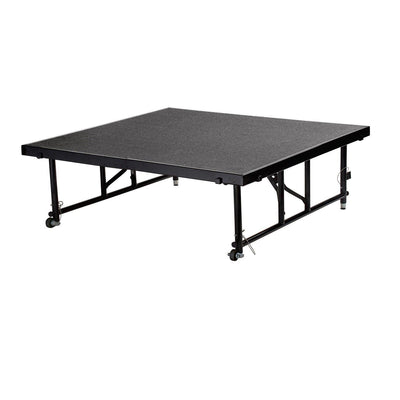 "NPS® Height Adjustable 4' x 4' TransFix Stage Platforms-Stages & Risers-24"" - 32""-Grey Carpet-"