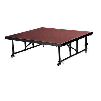 "NPS® Height Adjustable 4' x 4' TransFix Stage Platforms-Stages & Risers-24"" - 32""-Red Carpet-"