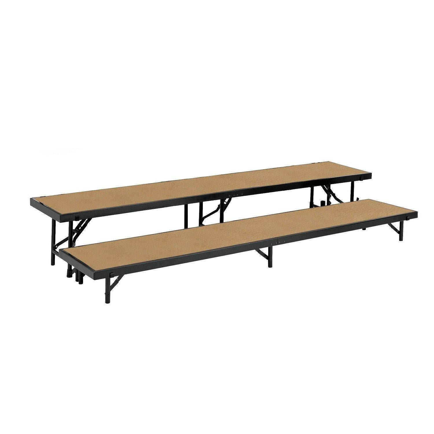 "Multi-Level Straight Standing Choral Risers, 18"" x 96"" Platforms"