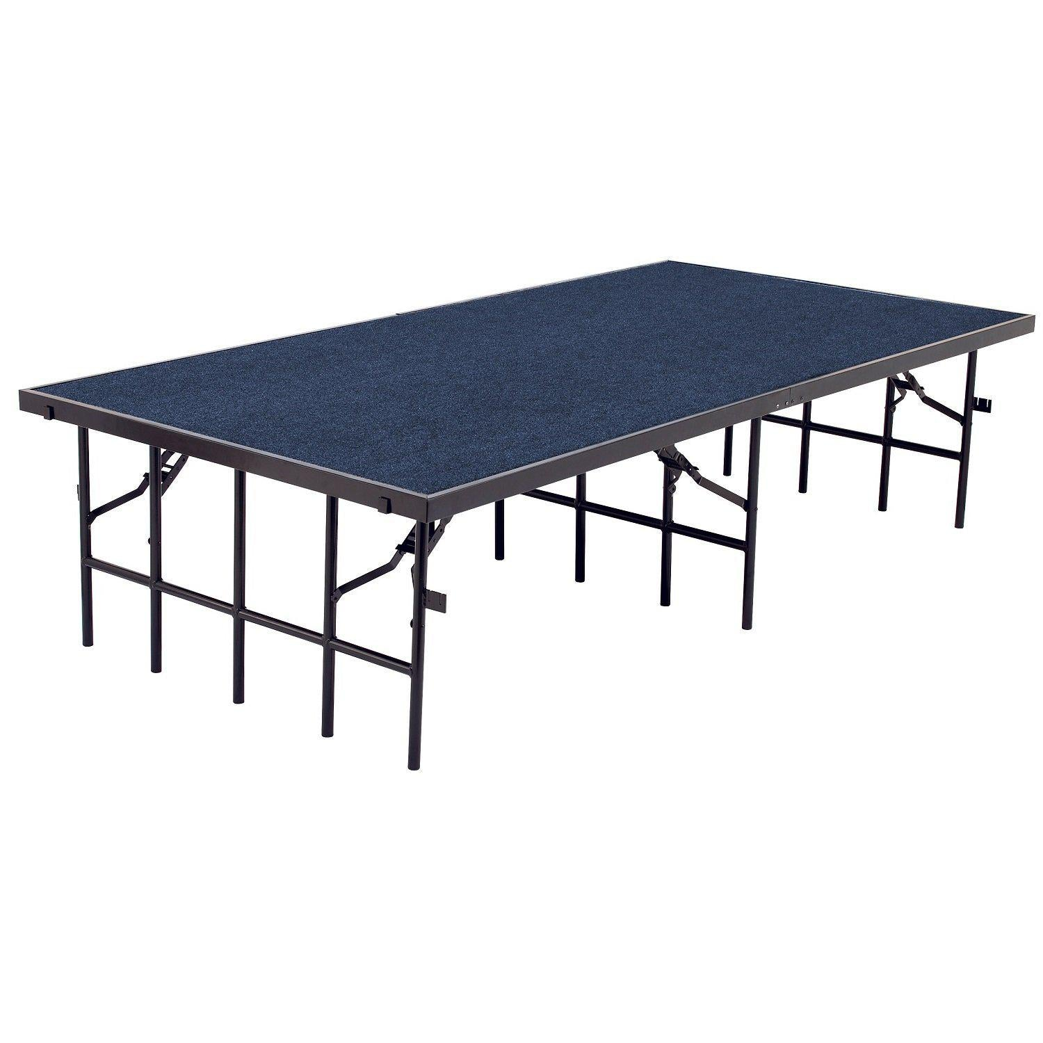 "NPS® Single Level Stages-Stages & Risers-3' x 8'-8""-Blue Carpet"