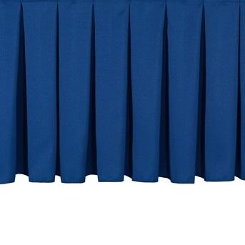 "NPS® Stage Skirting, Box Pleat-Stages & Risers-8""-36""-Navy"