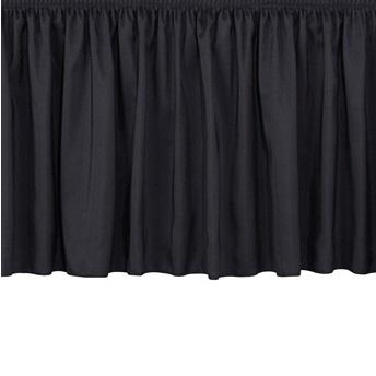 "NPS® Stage Skirting, Shirred Pleat-Stages & Risers-8""-36""-Black"