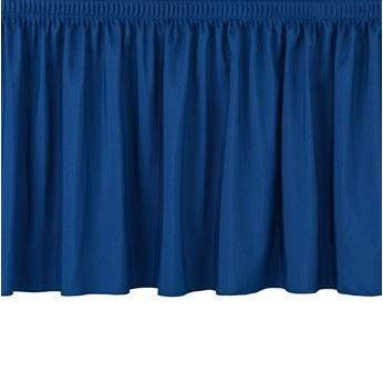 "NPS® Stage Skirting, Shirred Pleat-Stages & Risers-8""-36""-Navy"
