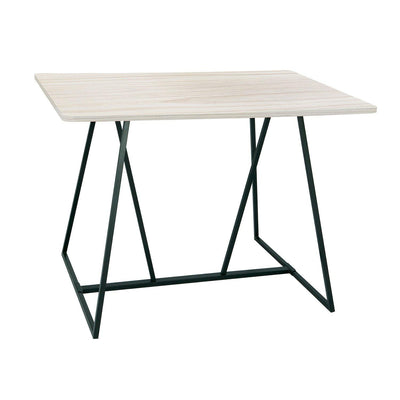 Oasis™ Standing Height Teaming Table-Weathered White-