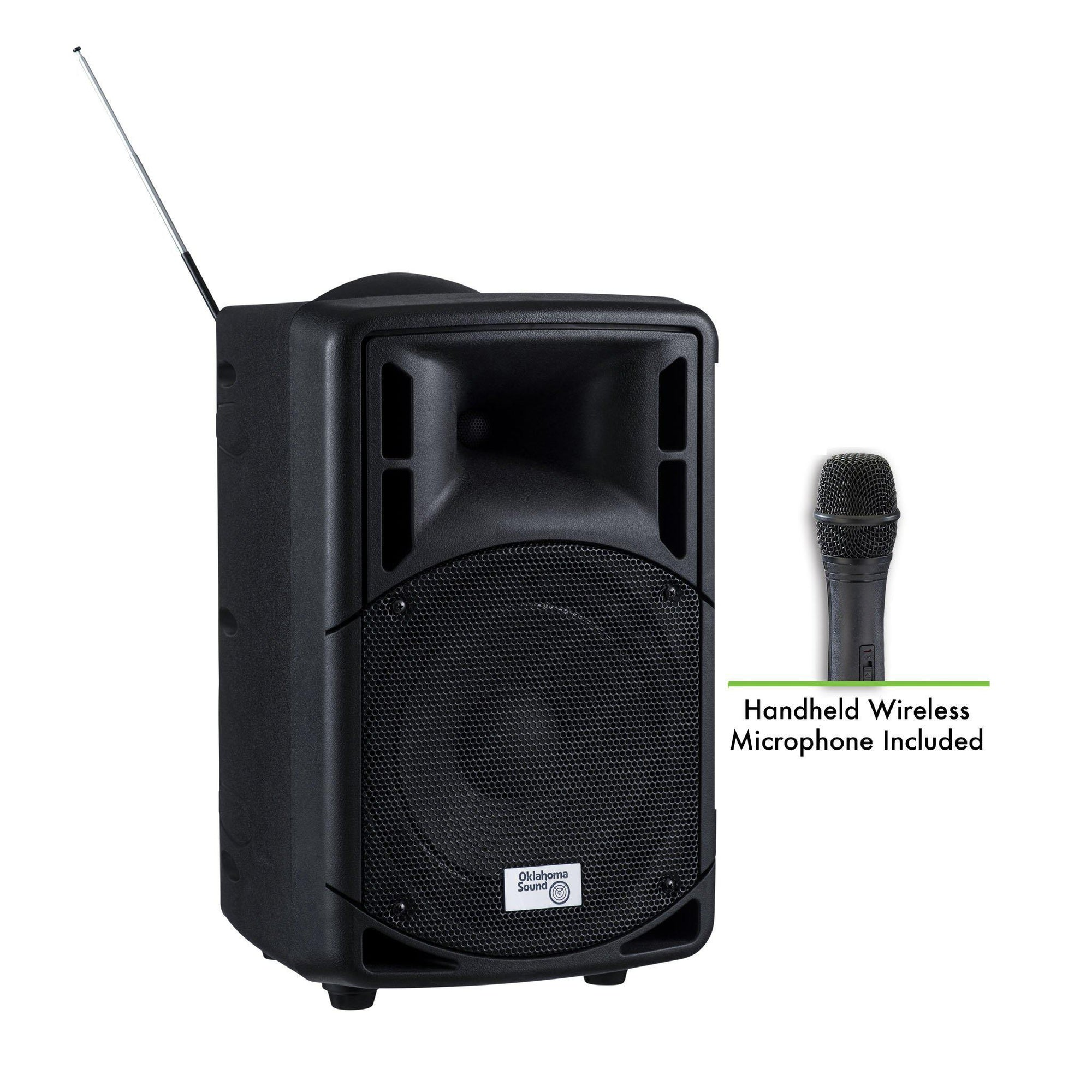 Oklahoma Sound® 40 Watt Wireless PA System w/ Wireless Handheld Mic-Audio-Visual/Presentation-
