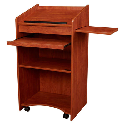 Oklahoma Sound® Aristocrat Non-Sound Lectern-Lecterns & Podiums-Cherry-