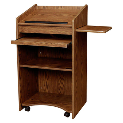 Oklahoma Sound® Aristocrat Non-Sound Lectern-Lecterns & Podiums-Medium Oak-