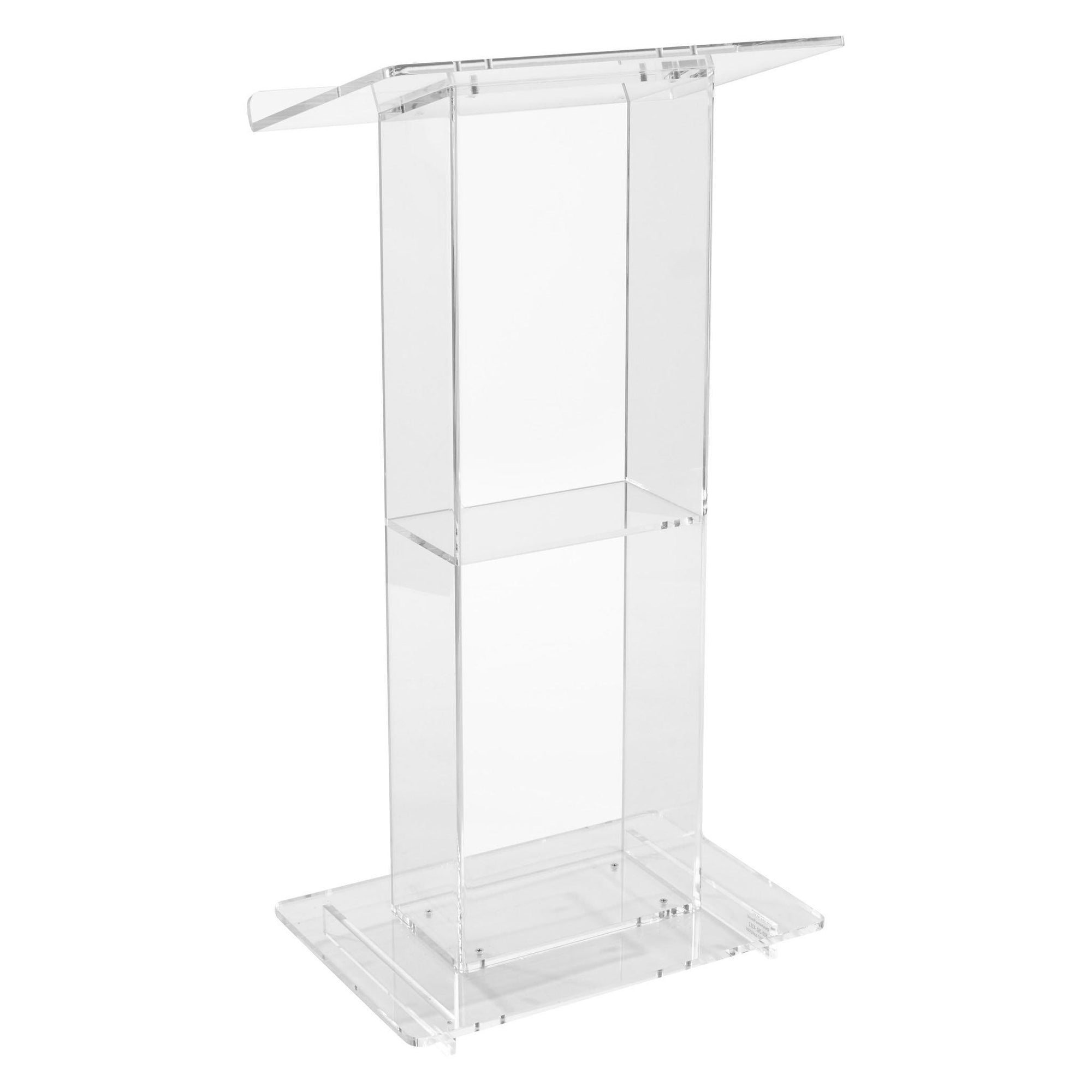 Clear Acrylic Lectern with Shelf