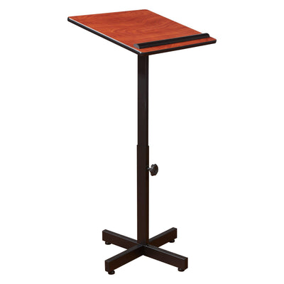Oklahoma Sound® Portable Presentation Lectern Stand-Lecterns & Podiums-Cherry-