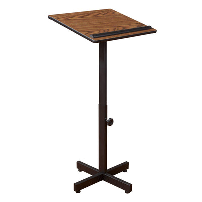 Oklahoma Sound® Portable Presentation Lectern Stand-Lecterns & Podiums-Medium Oak-