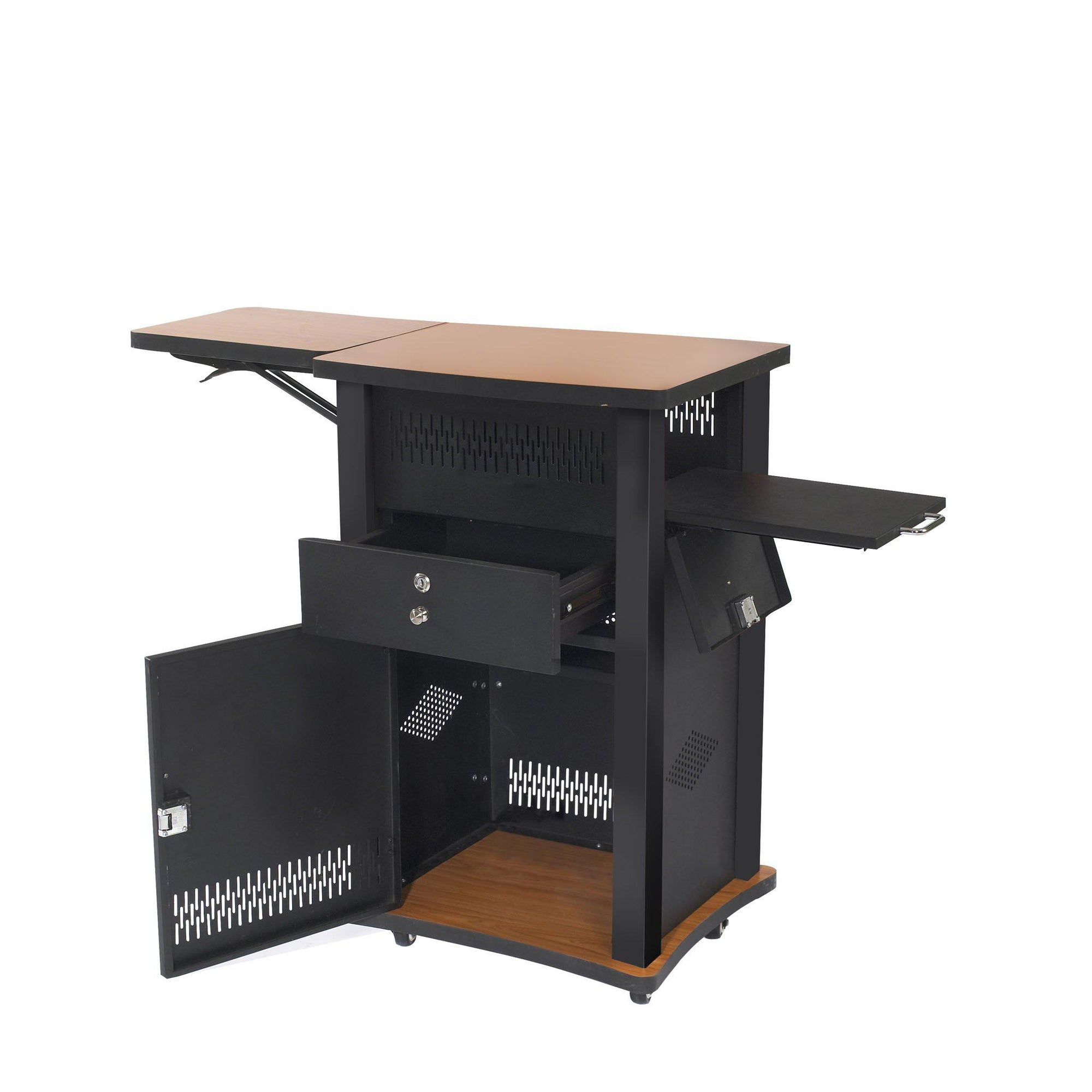 Oklahoma Sound® The Wizard Presentation Cart-Audio-Visual/Presentation-