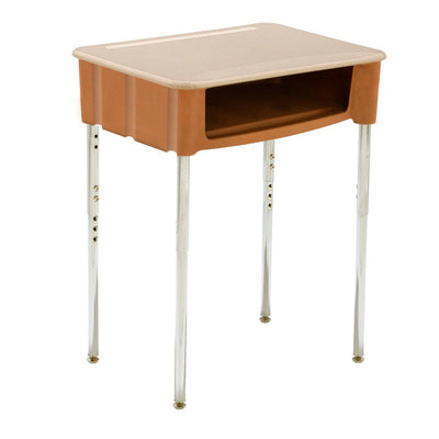 Ovation Open Front Student Desk with Plastic Bookbox, High-Pressure Laminate Top