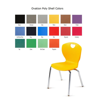 "Ovation Contemporary Classroom Chair with Casters, 14"" Seat Height"