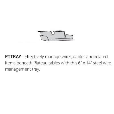 Metal Wire Management Tray for Nextgen P-Series Library & Technology Table