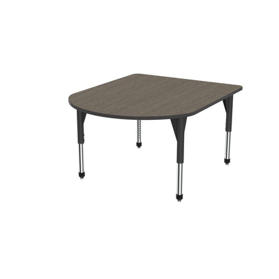 "Premier Series Multimedia Tables, 48"" x 60""-Tables-Sitting (21"" - 31"")-Boardwalk Oak/Black-Black"