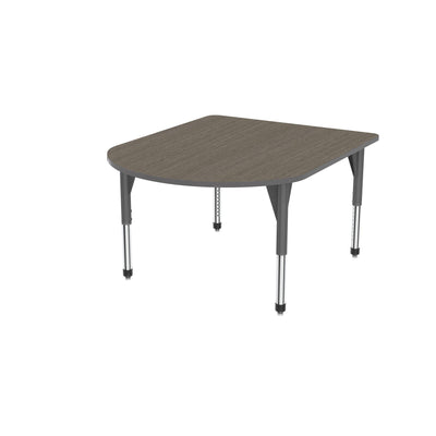 "Premier Series Multimedia Tables, 48"" x 60""-Tables-Sitting (21"" - 31"")-Boardwalk Oak/Gray-Grey"