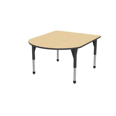 "Premier Series Multimedia Tables, 48"" x 60""-Tables-Sitting (21"" - 31"")-Fusion Maple/Black-Black"