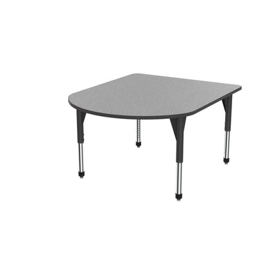 "Premier Series Multimedia Tables, 48"" x 60""-Tables-Sitting (21"" - 31"")-Gray Nebula/Black-Black"