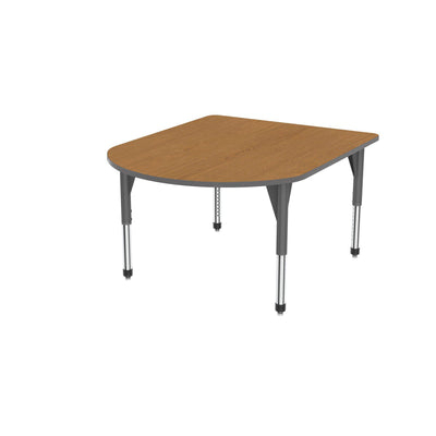 "Premier Series Multimedia Tables, 48"" x 60""-Tables-Sitting (21"" - 31"")-Solar Oak/Gray-Grey"