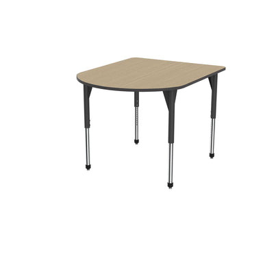 "Premier Series Multimedia Tables, 48"" x 60""-Tables-Stool (32"" - 42"")-Sand Shoal/Black-Black"