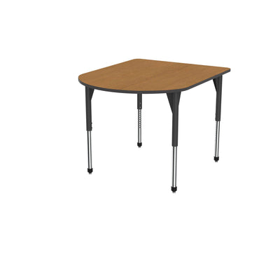 "Premier Series Multimedia Tables, 48"" x 60""-Tables-Stool (32"" - 42"")-Solar Oak/Black-Black"