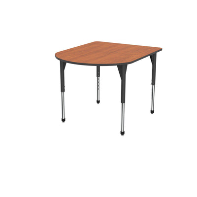 "Premier Series Multimedia Tables, 48"" x 60""-Tables-Stool (32"" - 42"")-Wild Cherry/Black-Black"