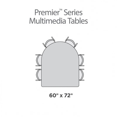 "Premier Series Multimedia Tables, 60"" x 72""-Tables-"