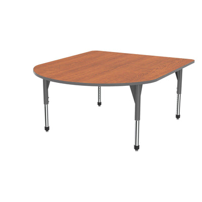 "Premier Series Multimedia Tables, 60"" x 72""-Tables-Sitting (21"" - 31"")-Wild Cherry/Gray-Grey"