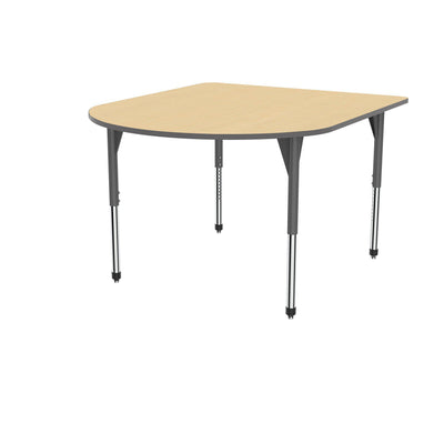 "Premier Series Multimedia Tables, 60"" x 72""-Tables-Stool (32"" - 42"")-Fusion Maple/Gray-Grey"