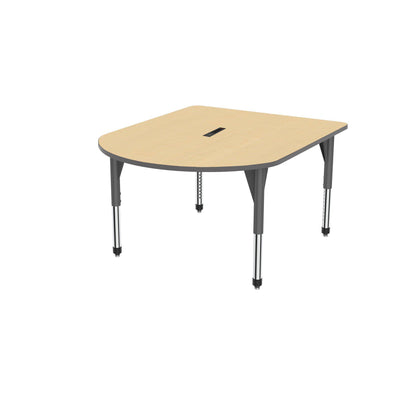 "Premier Series Multimedia Tables with Power Module, 48"" x 60""-Tables-Sitting (21"" - 31"")-Fusion Maple/Gray-Grey"