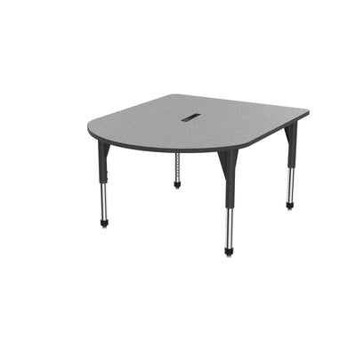 "Premier Series Multimedia Tables with Power Module, 48"" x 60""-Tables-Sitting (21"" - 31"")-Gray Nebula/Black-Black"