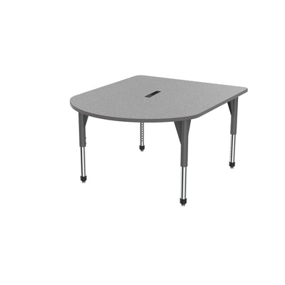 "Premier Series Multimedia Tables with Power Module, 48"" x 60""-Tables-Sitting (21"" - 31"")-Gray Nebula/Gray-Grey"
