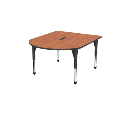 "Premier Series Multimedia Tables with Power Module, 48"" x 60""-Tables-Sitting (21"" - 31"")-Wild Cherry/Black-Black"