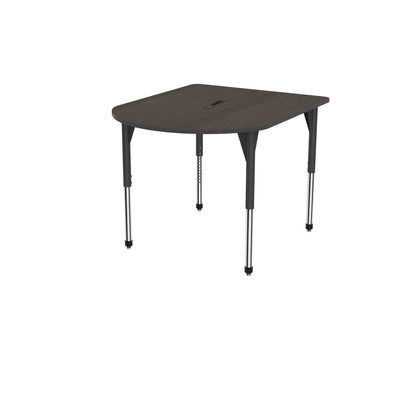 "Premier Series Multimedia Tables with Power Module, 48"" x 60""-Tables-Stool (32"" - 42"")-Asian Night/Black-Black"