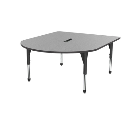 "Premier Series Multimedia Tables with Power Module, 60"" x 72""-Tables-Sitting (21"" - 31"")-Gray Nebula/Black-Black"