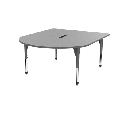 "Premier Series Multimedia Tables with Power Module, 60"" x 72""-Tables-Sitting (21"" - 31"")-Gray Nebula/Gray-Grey"
