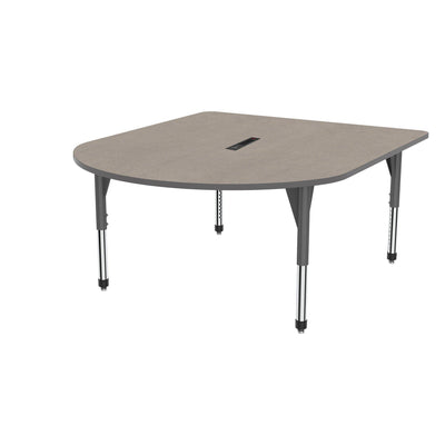 "Premier Series Multimedia Tables with Power Module, 60"" x 72""-Tables-Sitting (21"" - 31"")-Pewter Mesh/Gray-Grey"