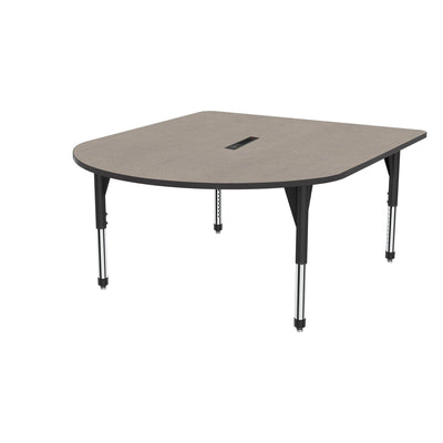 "Premier Series Multimedia Tables with Power Module, 60"" x 72""-Tables-Sitting (21"" - 31"")-Solar Oak/Black-Black"