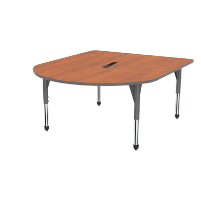 "Premier Series Multimedia Tables with Power Module, 60"" x 72""-Tables-Sitting (21"" - 31"")-Wild Cherry/Gray-Grey"