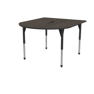 "Premier Series Multimedia Tables with Power Module, 60"" x 72""-Tables-Stool (32"" - 42"")-Asian Night/Black-Black"
