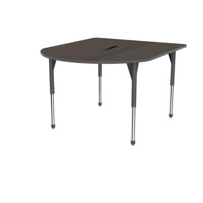 "Premier Series Multimedia Tables with Power Module, 60"" x 72""-Tables-Stool (32"" - 42"")-Asian Night/Gray-Grey"