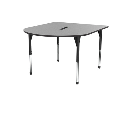 "Premier Series Multimedia Tables with Power Module, 60"" x 72""-Tables-Stool (32"" - 42"")-Gray Nebula/Black-Black"